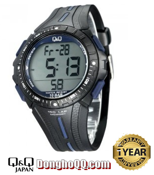 M102J003Y, Đồng hồ điện tử Q&Q M102J003Y chính hãng