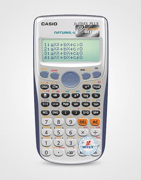 Casio FX-570ES Plus; Máy tính được phép mang vào phòng thi Casio FX-570ES PLUS (Bảo hành 2 năm)