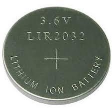 Pin sạc LIR2032 lithium Ion 3.6v, Pin sạc đồng xu LIR2302