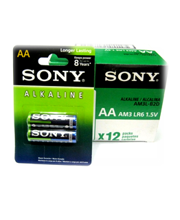 Pin Sony AM3 AA-LR6, AM3L-B2D Alakline Longer Lasting 1.5V Made in Indonesia