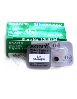 Pin Sony SR416SW-337 silver oxide 1.55v Made in Japan| CÒN HÀNG