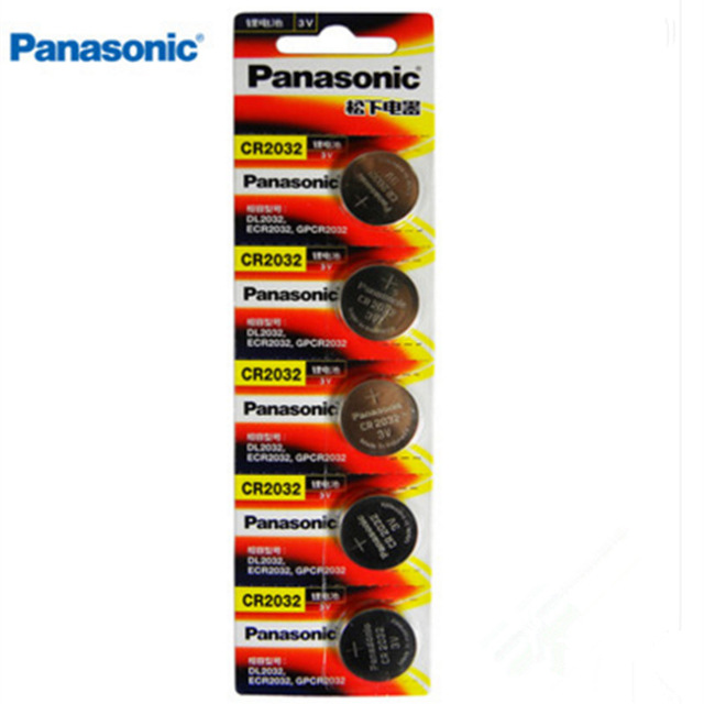 Pin 3v lithium Panasonic CR2032 Made in Indonesia