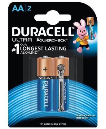 Pin AA 1,5V Alkaline Duracell Ultra Powercheck MX1500-LR6 chính hãng Duracell Made in China