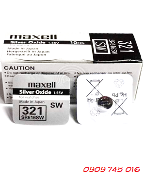 Pin đồng hồ Maxell SR616SW-321 Silver Oxide 1.55v