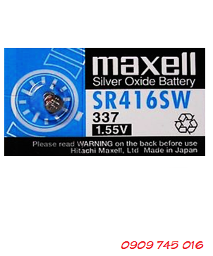 Pin Maxell SR416SW silver oxide 1.55V Made in Japan | CÒN HÀNG
