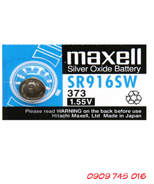Pin Maxell SR916SW-373 silver oxide 1.55v Made in Japan