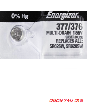 Pin đồng hồ 1,55v Silver Oxide Energizer 377,SR626SW Made in USA