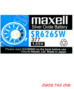 Pin Maxell SR626SW-377 silver oxide 1.55v Made in Japan