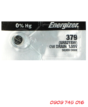 Pin đồng hồ 1,55v Silver Oxide Energizer 379,SR521SW Made in USA