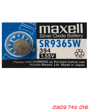 Pin Maxell SR936SW-394 silver oxide 1.55v Made in Japan