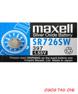 Pin Maxell SR726SW-397 silver oxide 1.55v Made in Japan