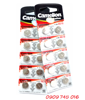 Camelion AG10, Pin cúc áo 1.55v Alkaline Camelion AG10 chính hãng (vỉ 10viên)
