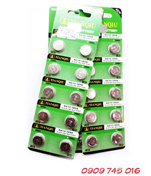 Tianqiu AG10, Pin cúc áo 1.5v Alkaline Tianqiu AG10 (vỉ 10viên)